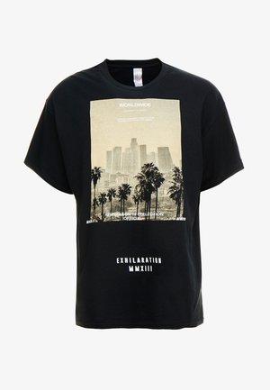 EXHILATRATION OVERSIZED - T-shirt con stampa - black