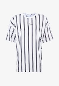 boohoo MAN - STRIPE SIGNATURE  - T-shirt con stampa - white - 4