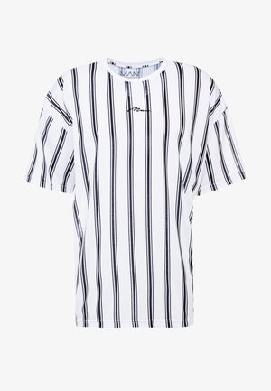 STRIPE SIGNATURE  - T-Shirt print - white
