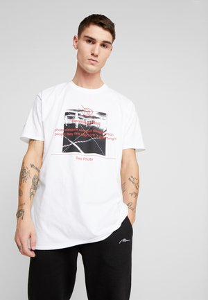 OVERSIZED PHOTO - T-shirt z nadrukiem - white