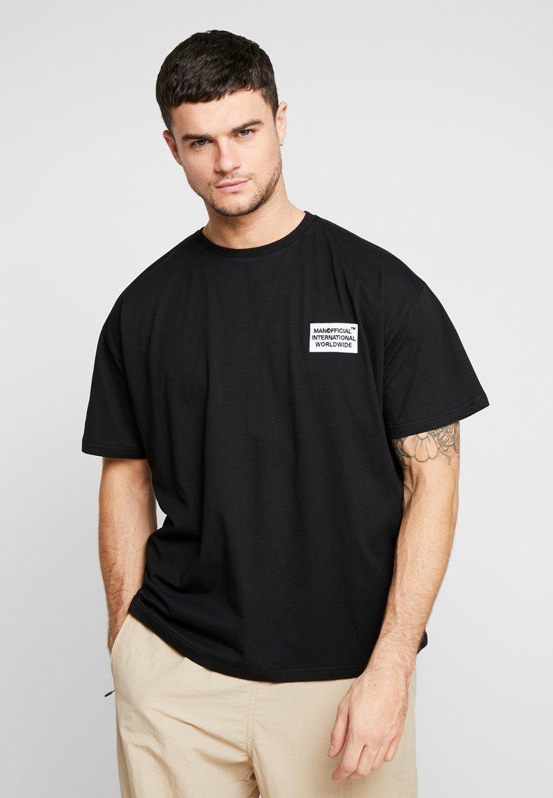 boohoo MAN - MAN WORLDWIDE BOXY FIT  - T-shirt con stampa - black