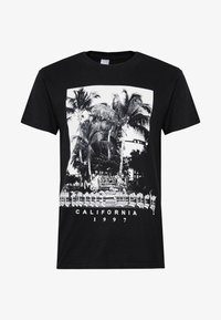 boohoo MAN - MIAMI BEACH MONO - T-shirt con stampa - black - 4