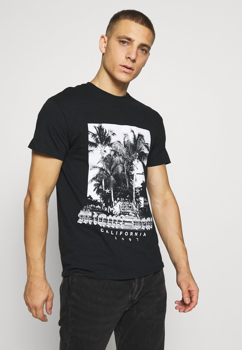 boohoo MAN - MIAMI BEACH MONO - T-shirt con stampa - black