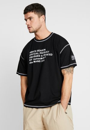 NEW SEASON MAN OVERSIZED  - T-shirt con stampa - black