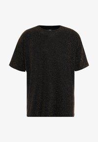 boohoo MAN - SHORT SLEEVE SPARKLE TEE - T-shirt con stampa - black - 4