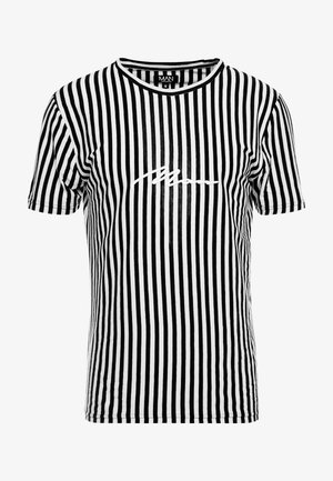 SIGNATURE 3D EMBROIDERED STRIPE  - T-shirt imprimé - black