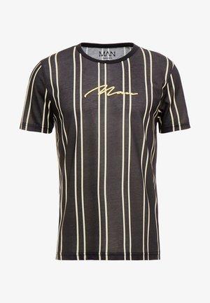 STRIPE - T-shirt imprimé - black