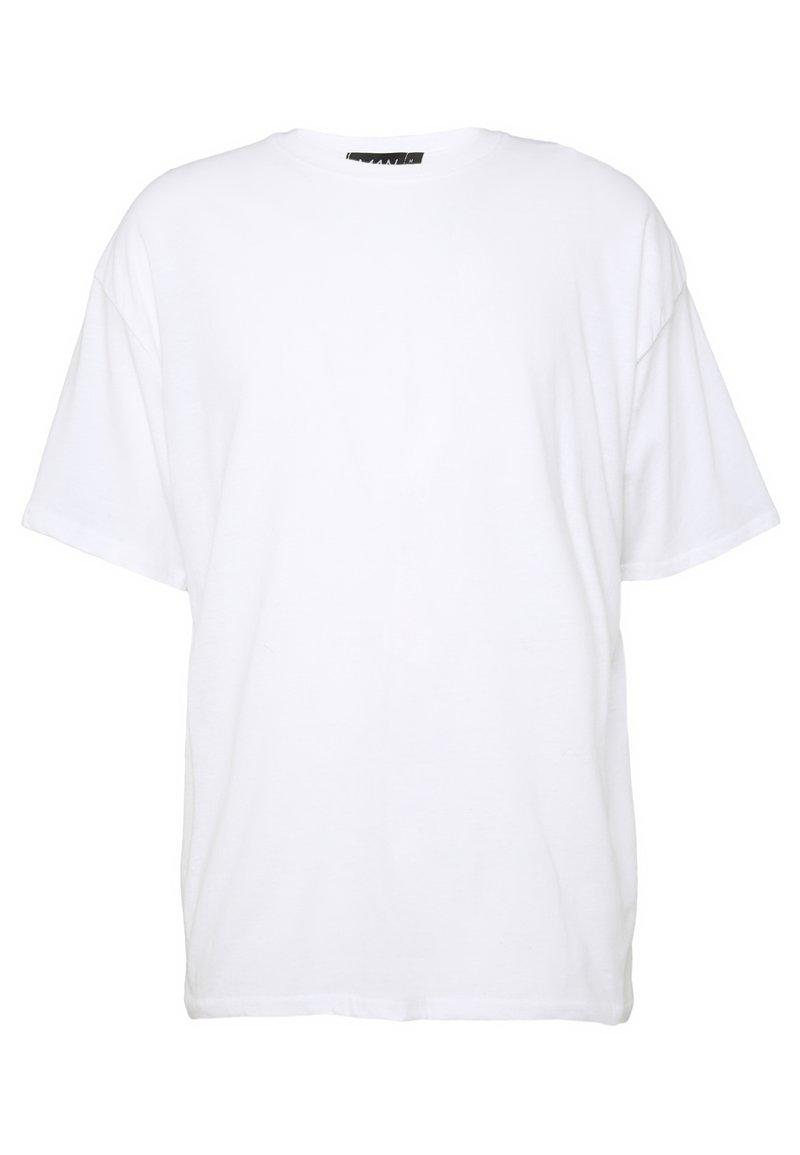 boohoo MAN OVERSIZED NYC EAST COAST BACK PRINT - T-shirts med print - white