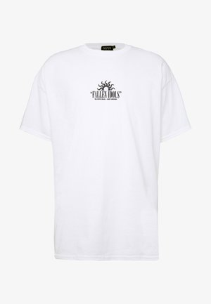 OVERSIZED FALLEN ANGELS FRONT AND BACK - T-shirt con stampa - white