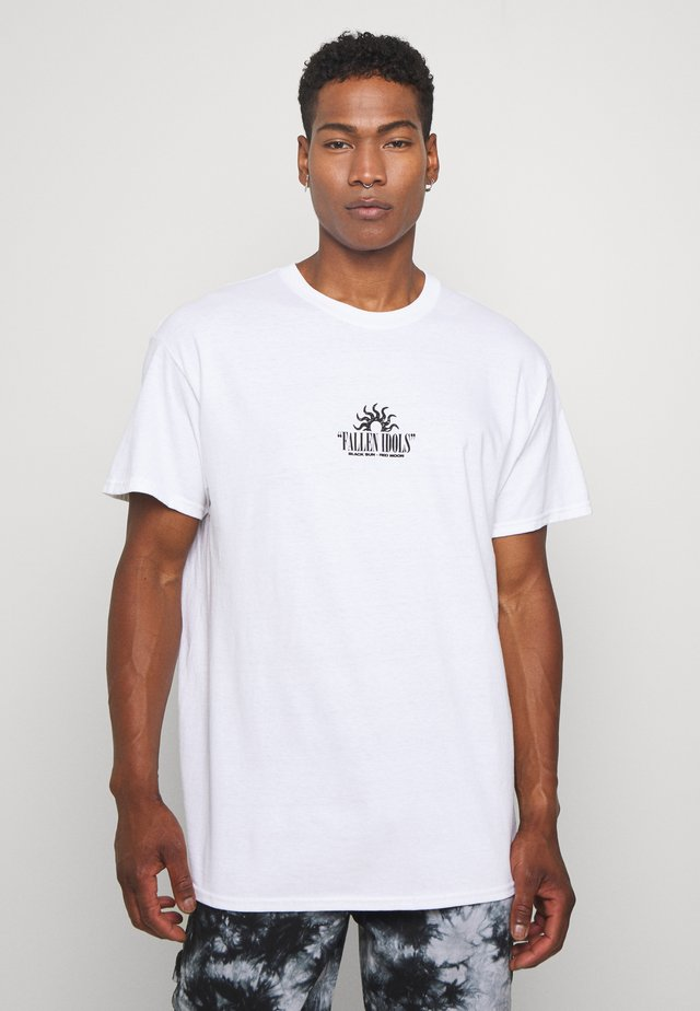 OVERSIZED FALLEN ANGELS FRONT AND BACK - T-shirt med print - white