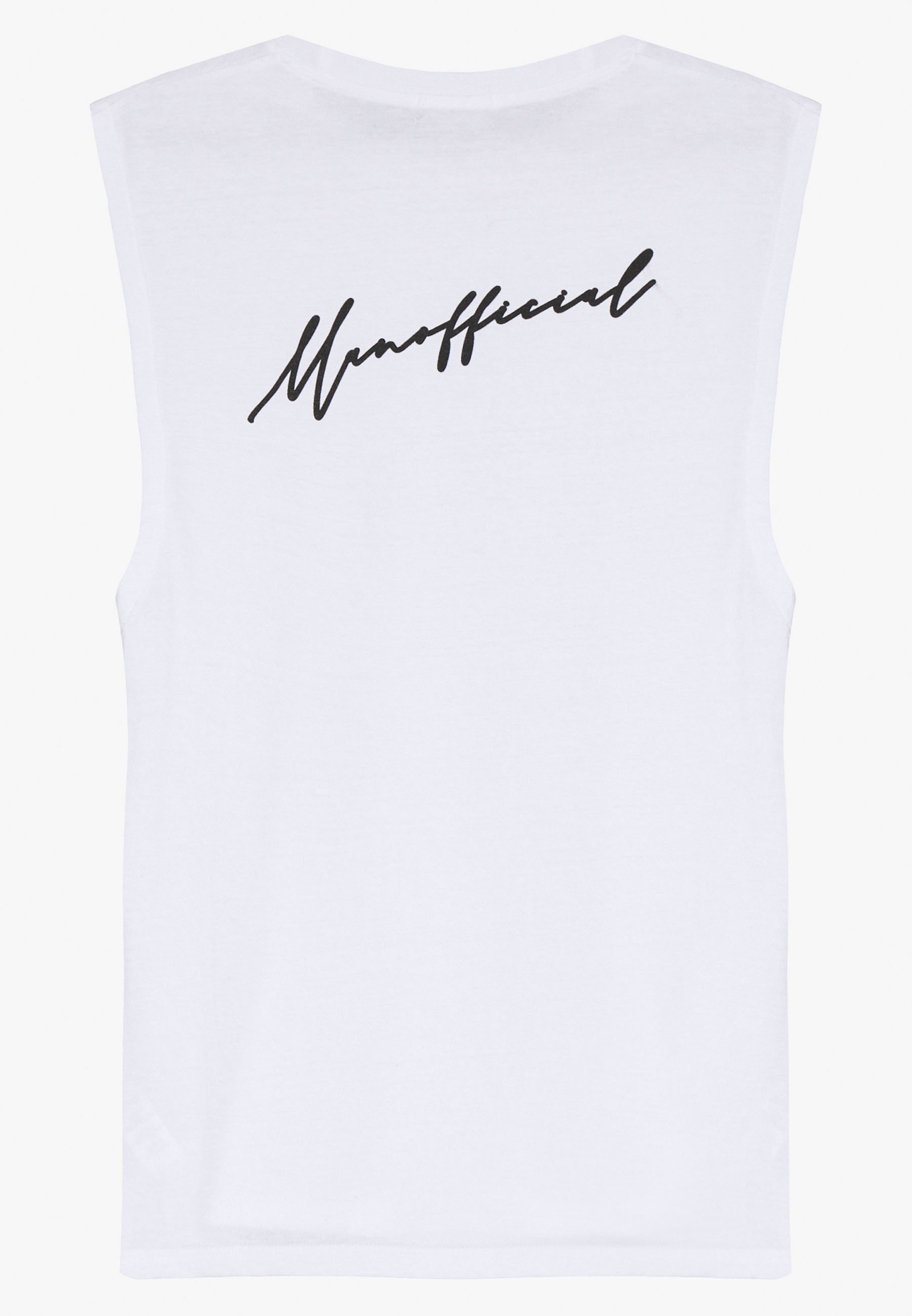 boohoo MAN 2 PACK OFFICIAL DROP ARMHOLE - Top - white