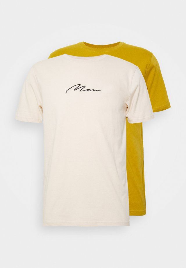 SIGNATURE 2 PACK - T-shirt z nadrukiem - yellow