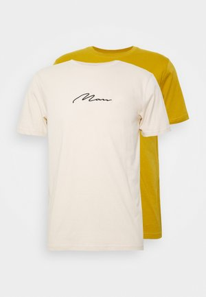 SIGNATURE 2 PACK - Triko s potiskem - yellow