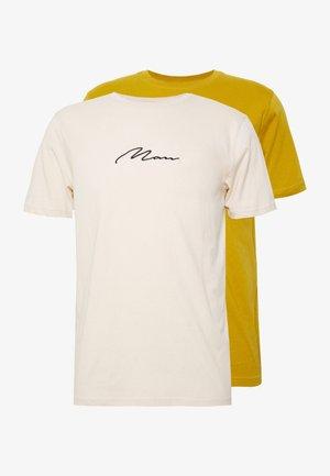 SIGNATURE 2 PACK - T-shirt print - yellow