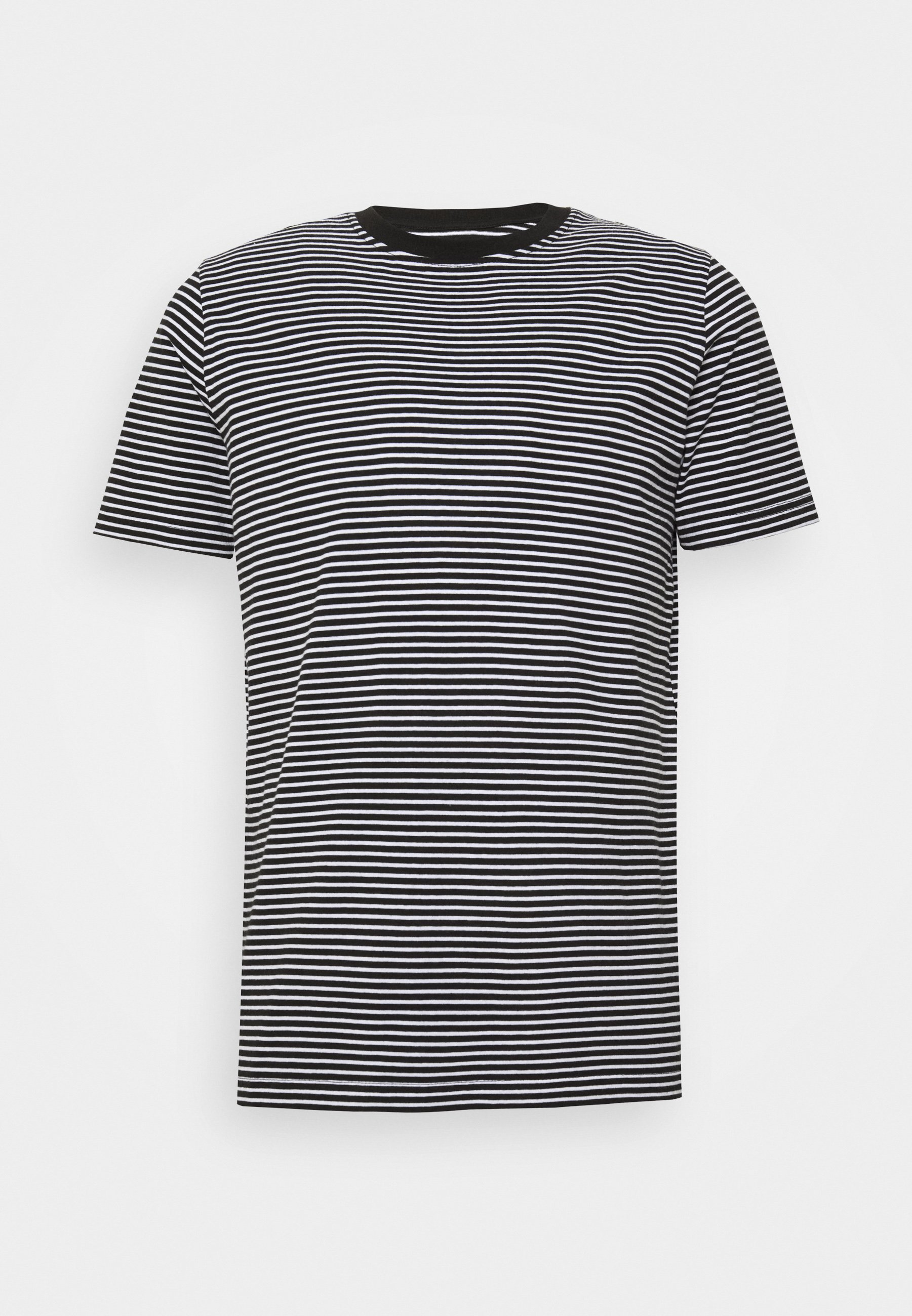 boohoo MAN HORIZONTAL DYED STRIPE 2 PACK - T-shirt imprimé - black