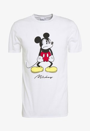 DISNEY ANGRY MICKEY  - Print T-shirt - white