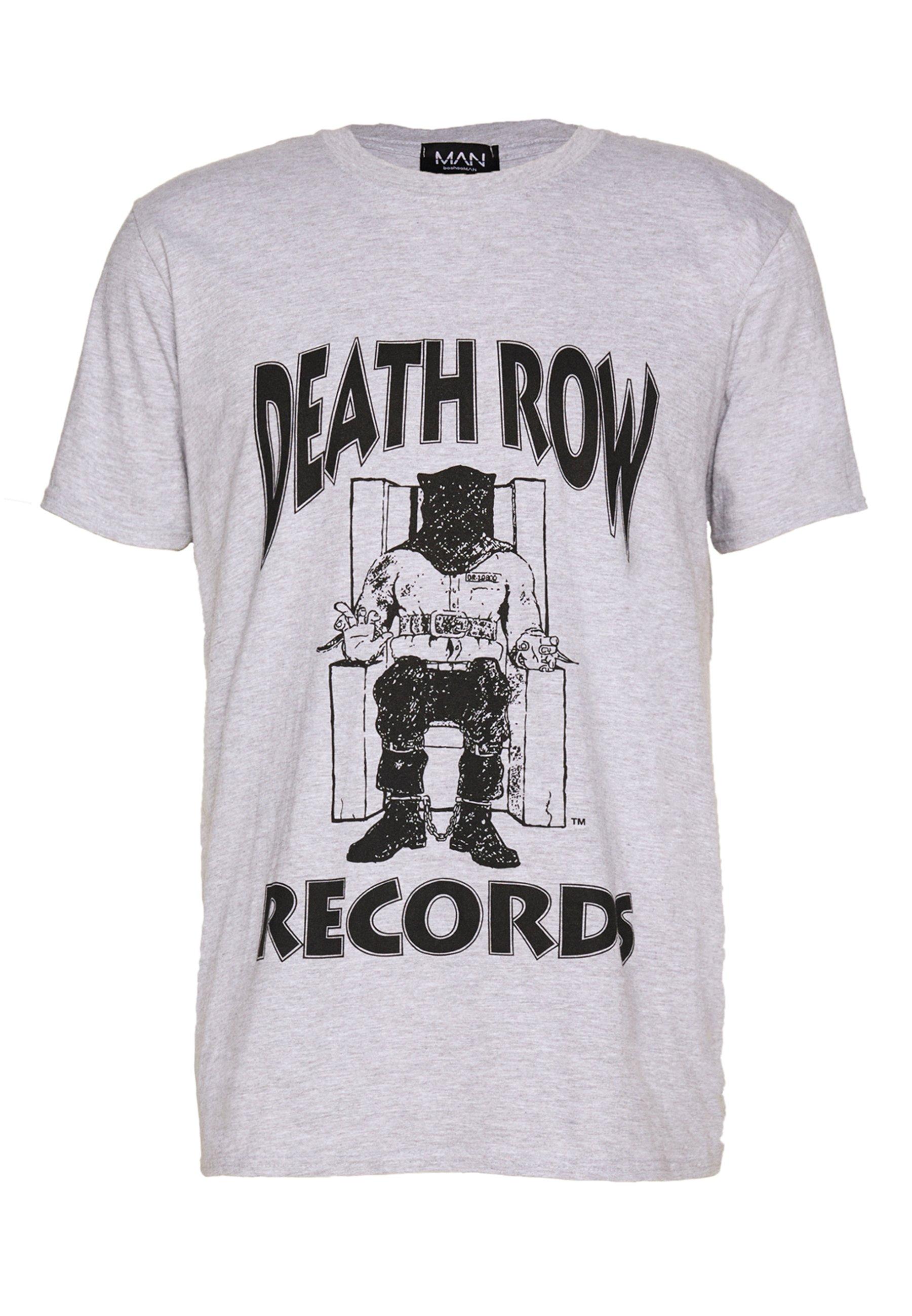 boohoo MAN DEATHROW LICENSE T shirt imprimé grey