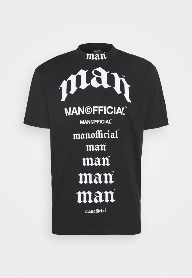 MULTI MAN LOOSE FIT T-SHIRT - T-shirt con stampa - black