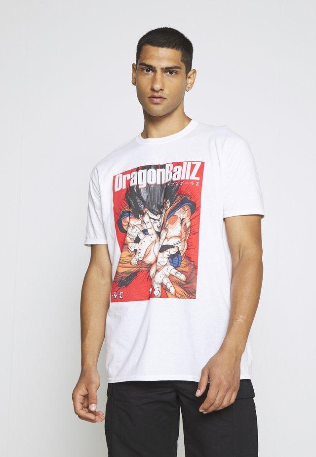 OVERSIZED DRAGONBALL  - T-shirt z nadrukiem - white