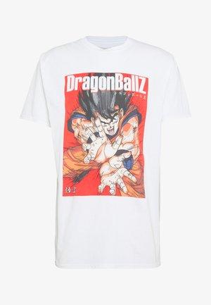 OVERSIZED DRAGONBALL  - Triko spotiskem - white