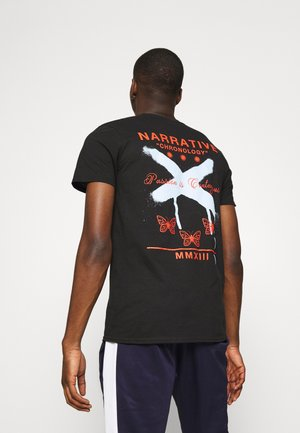 BUTTERFLY GRAFFITI BACK - Print T-shirt - black