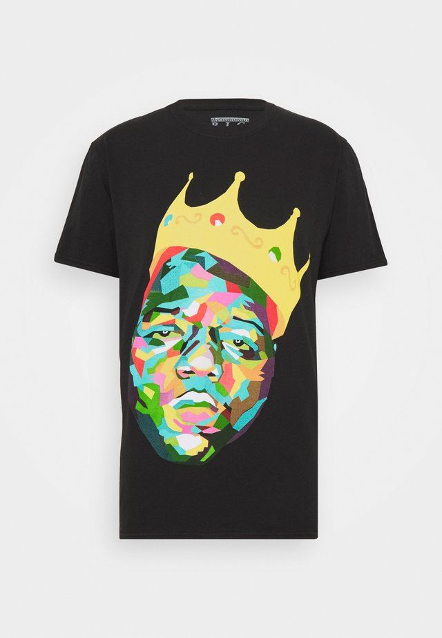 BIGGIE CROWN LICENSE - T-shirt z nadrukiem - black