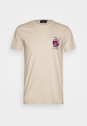 SKULL CHEST  - Print T-shirt - neutral