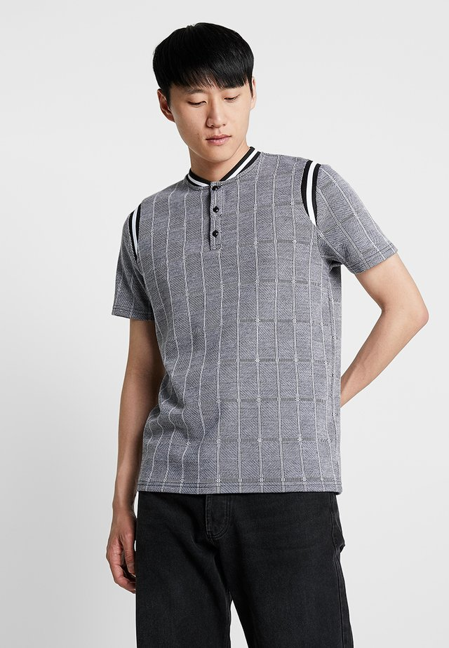 SMART WITH BOMBER NECK - Polo - grey