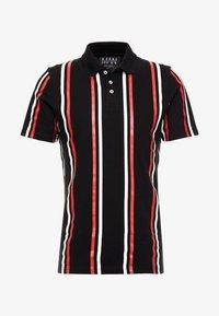boohoo MAN - PRINTED STRIPE BUTTON - Polo shirt - black - 3