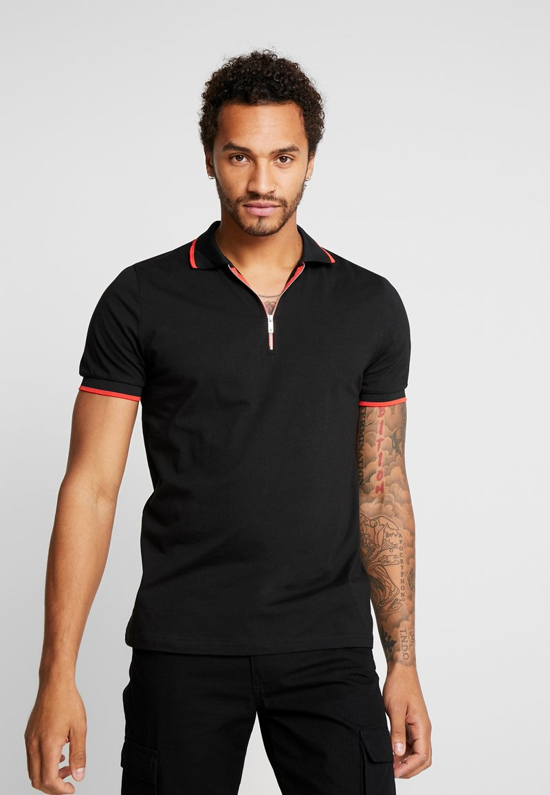 boohoo MAN - WITH BAROQUE BACK - Polo - black