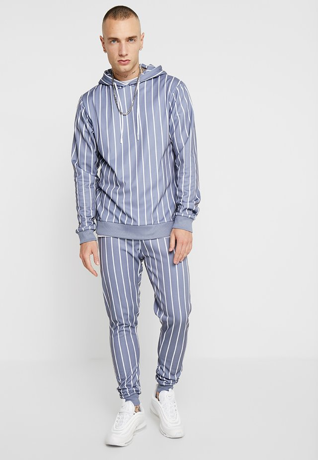 STRIPE PRINTED HOODED TRACKSUIT - Dres - grey