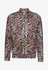 boohoo MAN - LEOPARD PANEL ZIP UP TRACK TOP - Zip-up hoodie - brown - 3