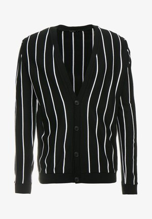 VERTICAL STRIPE - Gilet - black