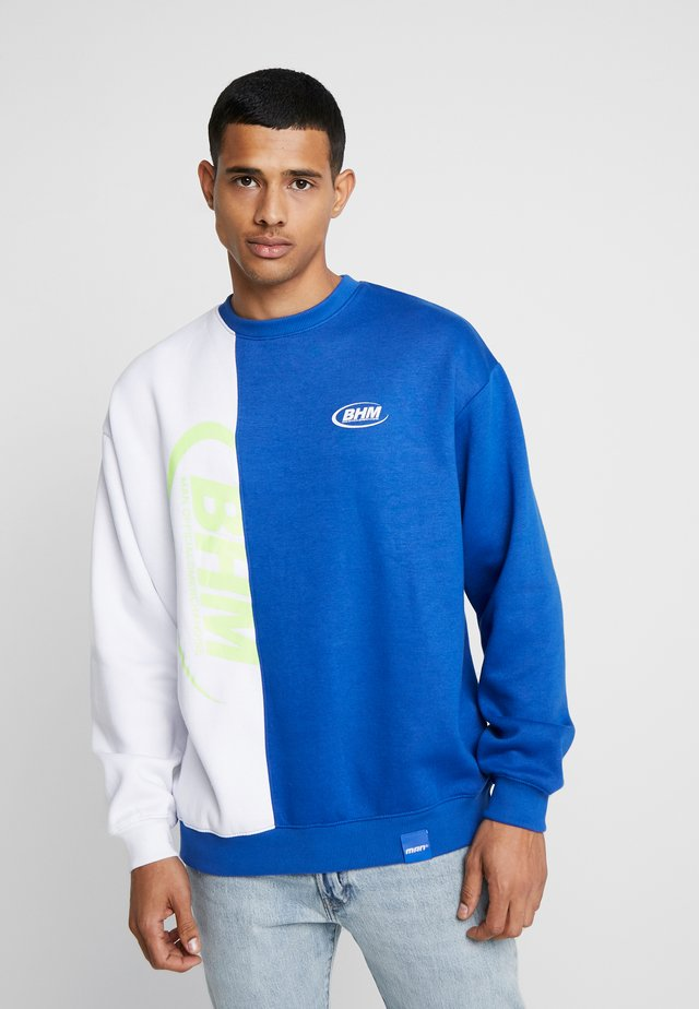 OVERSIZED SPLICED WITH PRINT - Sweatshirt - blue