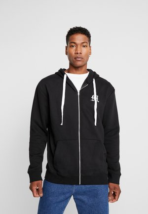 MAN AESTHETICS HEAVYWEIGHT LONGLINE ZIP THROUGH - veste en sweat zippée - black