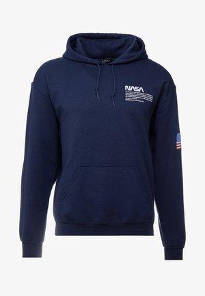 NASA CHEST AND SLEEVE HOODIE - Luvtröja - navy
