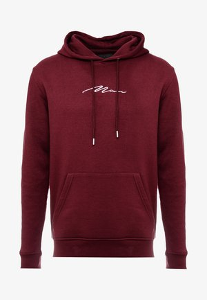 SIGNATURE EMBROIDERED HOODIE - Hoodie - wine