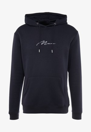 SIGNATURE EMBROIDERED HOODIE - Mikina skapucí - navy