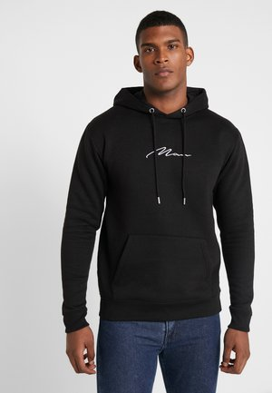 SIGNATURE EMBROIDERED HOODIE - Huppari - black