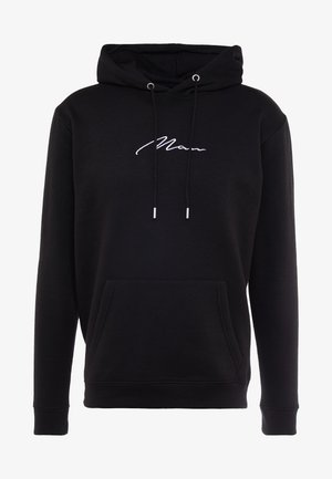 SIGNATURE EMBROIDERED HOODIE - Mikina s kapucí - black