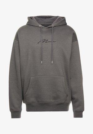 SIGNATURE EMBROIDERED HOODIE - Jersey con capucha - grey