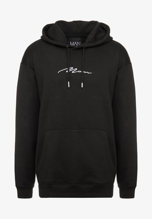 SIGNATURE EMBROIDERED HOODIE - Kapuzenpullover - black