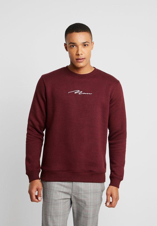 SIGNATURE EMBROIDERED - Sweatshirts - wine