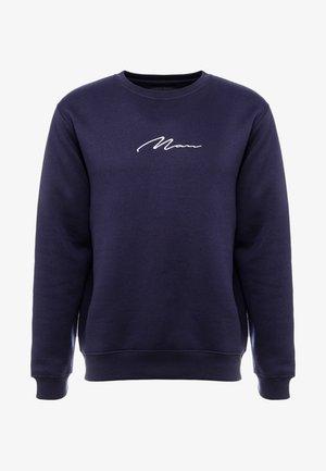 SIGNATURE EMBROIDERED - Sweatshirts - navy