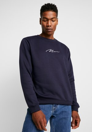 SIGNATURE EMBROIDERED - Sweatshirt - navy