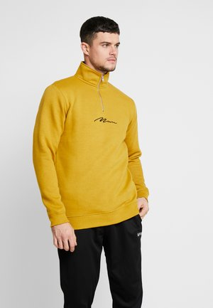 SIGNATURE FUNNEL NECK ZIP - Sweater - mustard