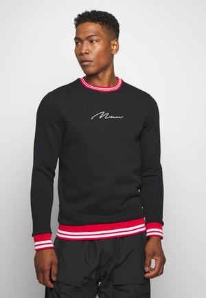 MAN SIGNATURE SWEAT WITH SPORTS - Sweatshirt - black