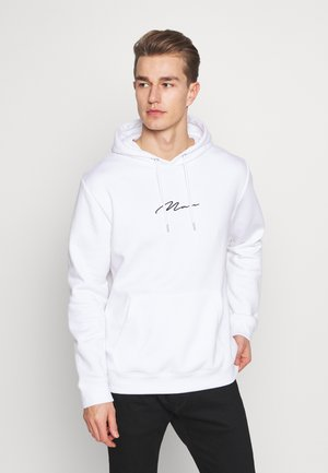 SIGNATURE EMBROIDERED HOODIE - Hoodie - white