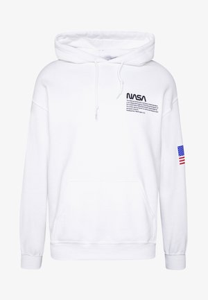NASA CHEST AND SLEEVE PRINT HOODIE - Luvtröja - white