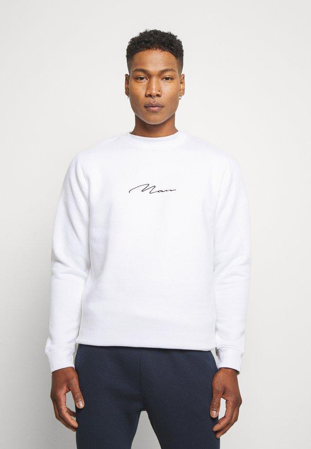 SIGNATURE EMBROIDERED  - Sweater - white